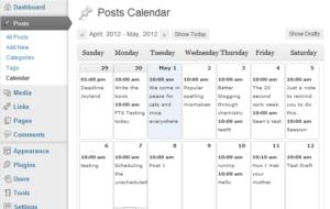 Wordpress плагин Editorial Calendar