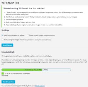 Wordpress плагин WP Smush