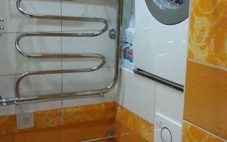 Как установить стиральную машину в туалете над унитазом