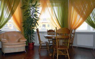 Новый тренд — двухцветные шторы из вуали