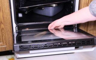 Как почистить стекло в духовке, расположенное внутри дверцы