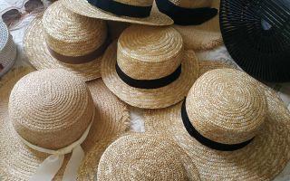 Как почистить соломенную шляпку своими руками