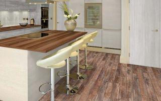 Ламинат на кухне — плюсы и минусы