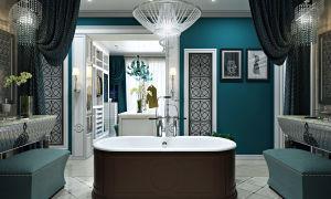 Ванная комната в стиле французского будуара