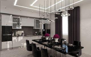 Кухня-столовая — стильно и удобно