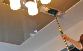 Как помыть натяжной потолок в домашних условиях