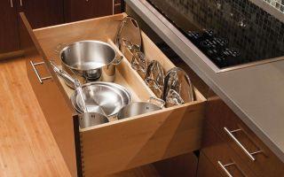Как компактно хранить крышки от кастрюль и сковородок