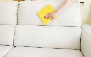 Как почистить обивку мебели из кожезаменителя