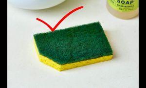 Зачем нужно обрезать уголок губки для мытья посуды