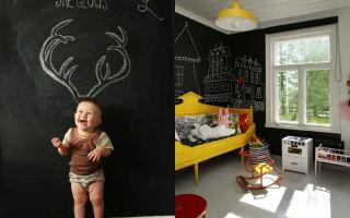 Грифельная стена в интерьере детской