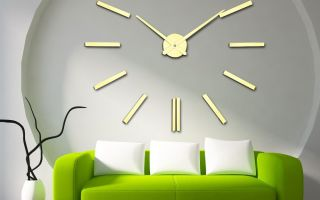 Необычные настенные часы для украшения интерьера