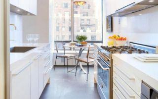 Выбираем гарнитур для узкой и длинной кухни