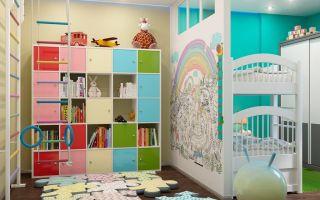 Правильное зонирование детской комнаты