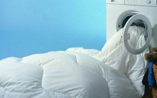 Как стирать в машинке одеяло с пуховым наполнителем