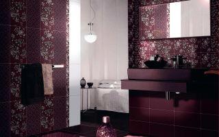 Ванная в бордовом цвете — неординарно и впечатляюще