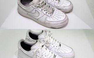 Как отмыть белые кроссовки в домашних условиях