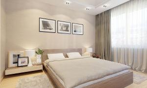 Дизайн спальни в кремовом цвете