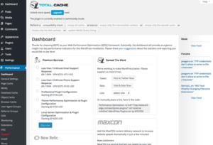 Wordpress плагин W3 Total Cache