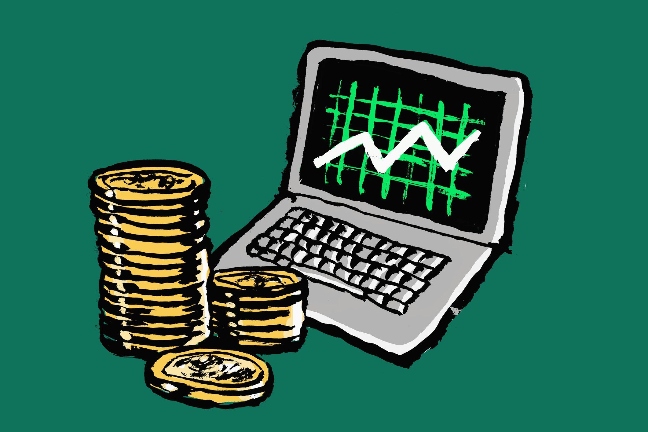 Работа через интернет на компьютере график и деньги