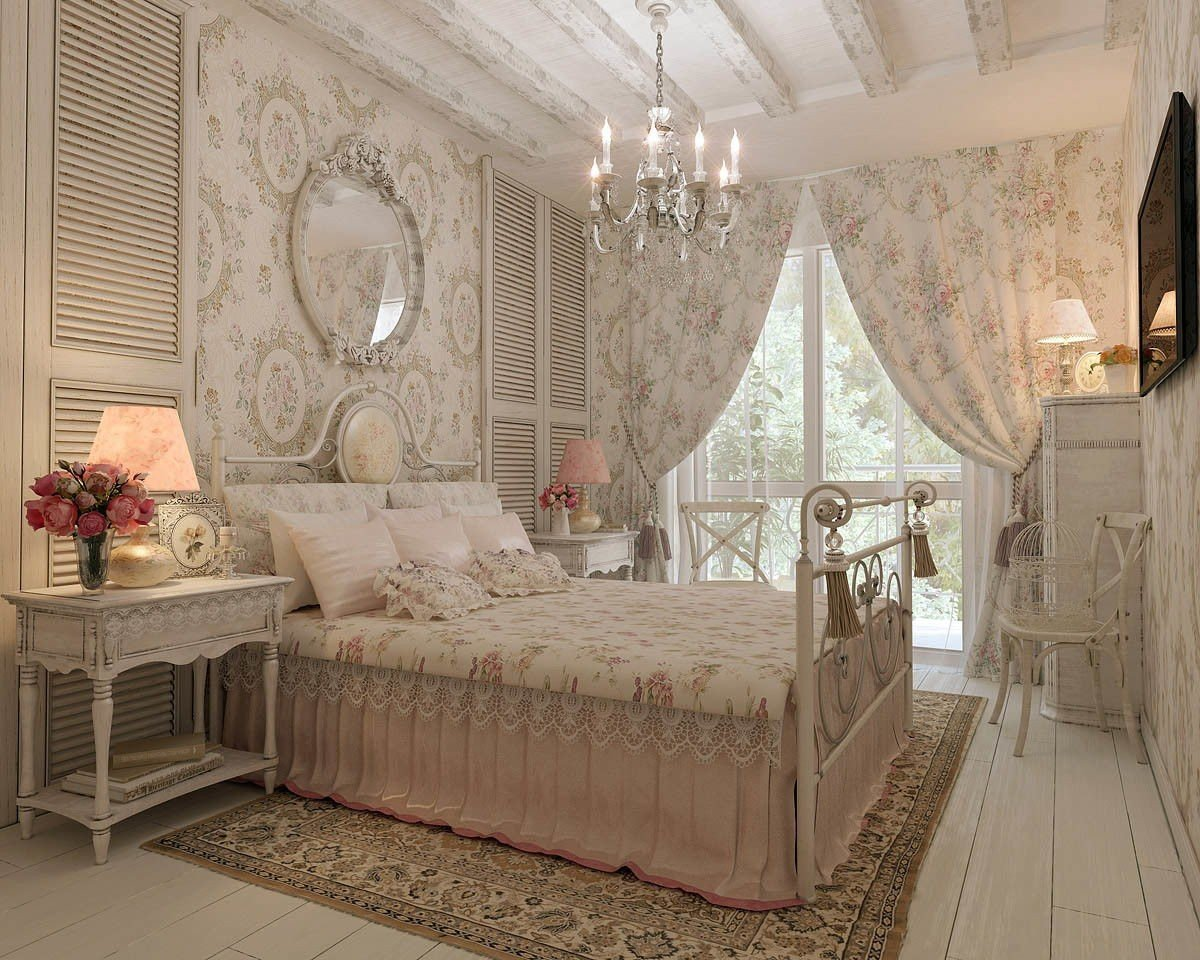 Спокойный и нежный декор в спальне