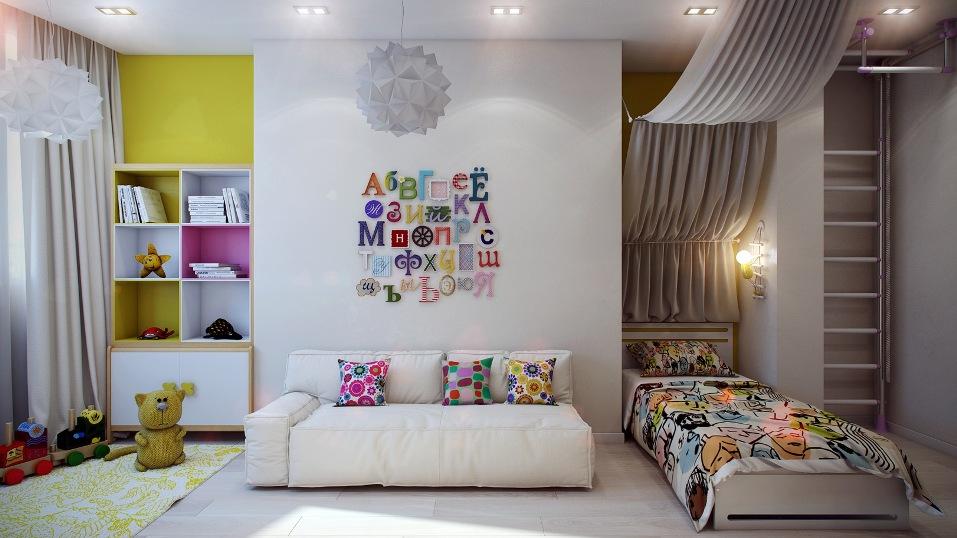 Современная детская комната: особенности планировки и цветовое решение