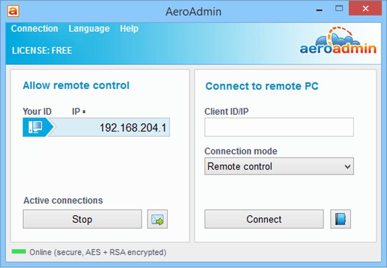 AeroAdmin – приложение для удаленного доступа к другому компьютеру