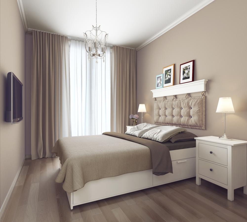 Дизайн спальни площадью 12 кв. м