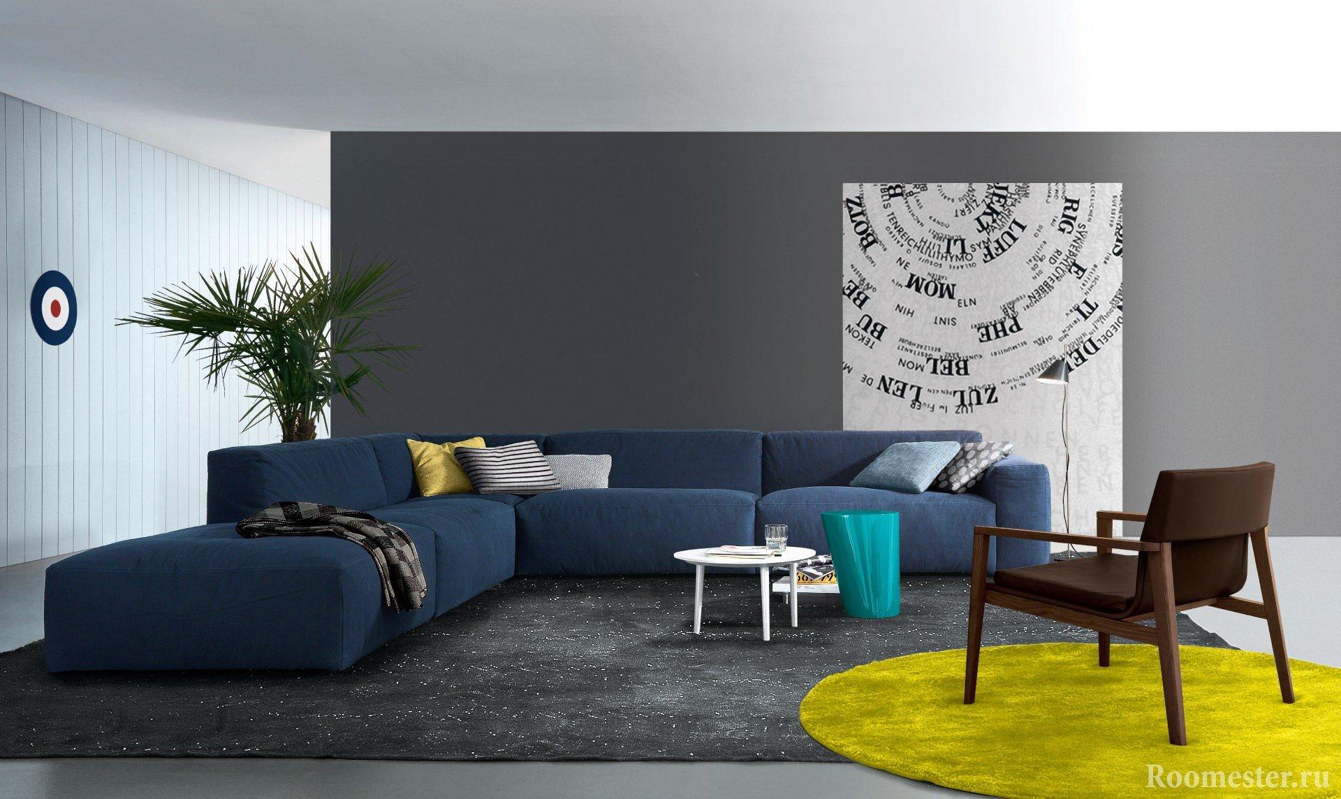 Правила сочетания серого цвета в интерьере
