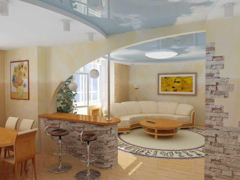 Оформление и зонирование гостиной