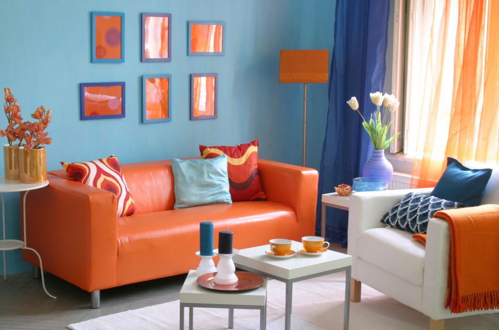 Как можно использовать оранжевые оттенки в оформлении интерьера