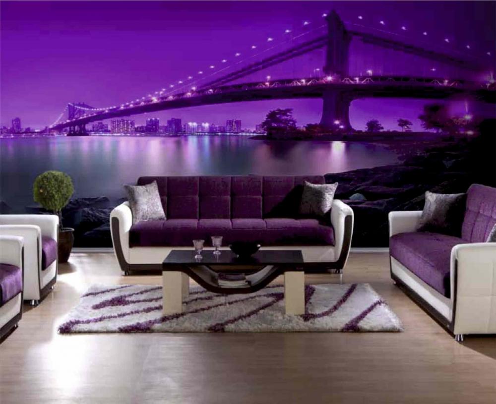 Неоновые картины в интерьере квартиры