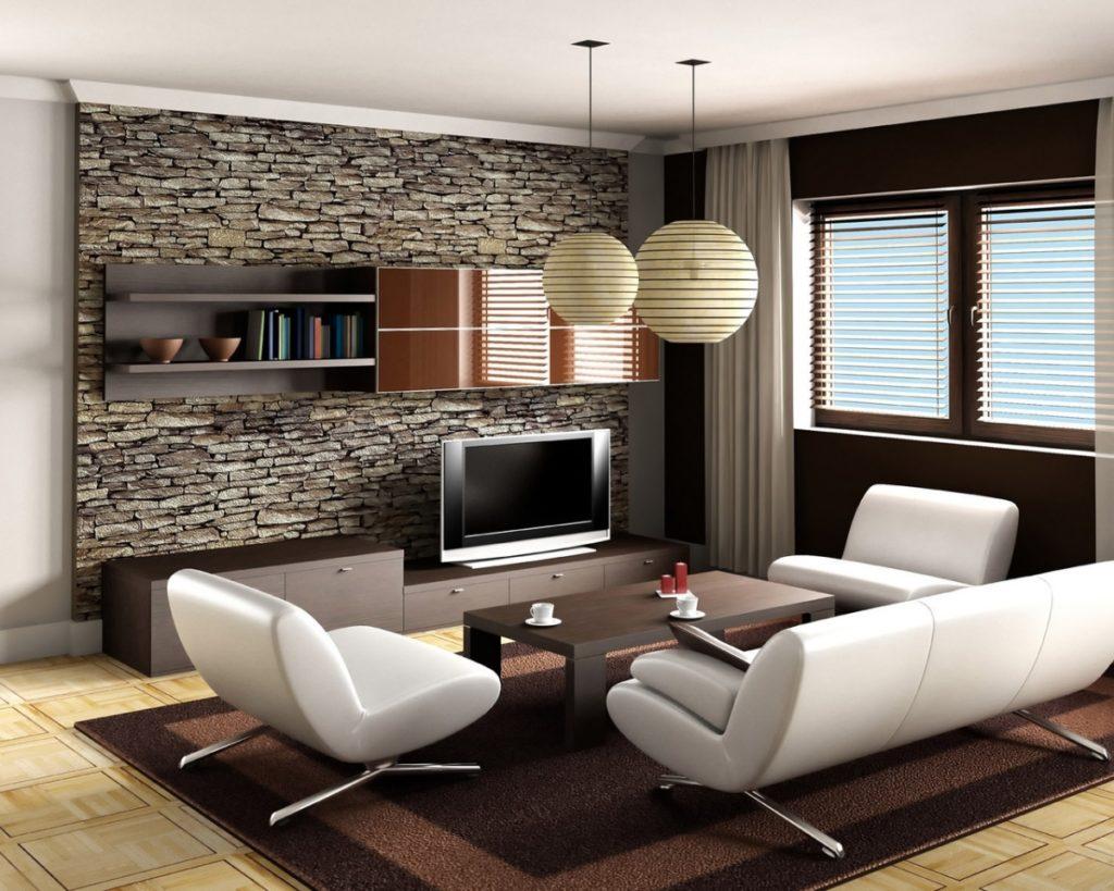 Рельефные поверхности в гостиной