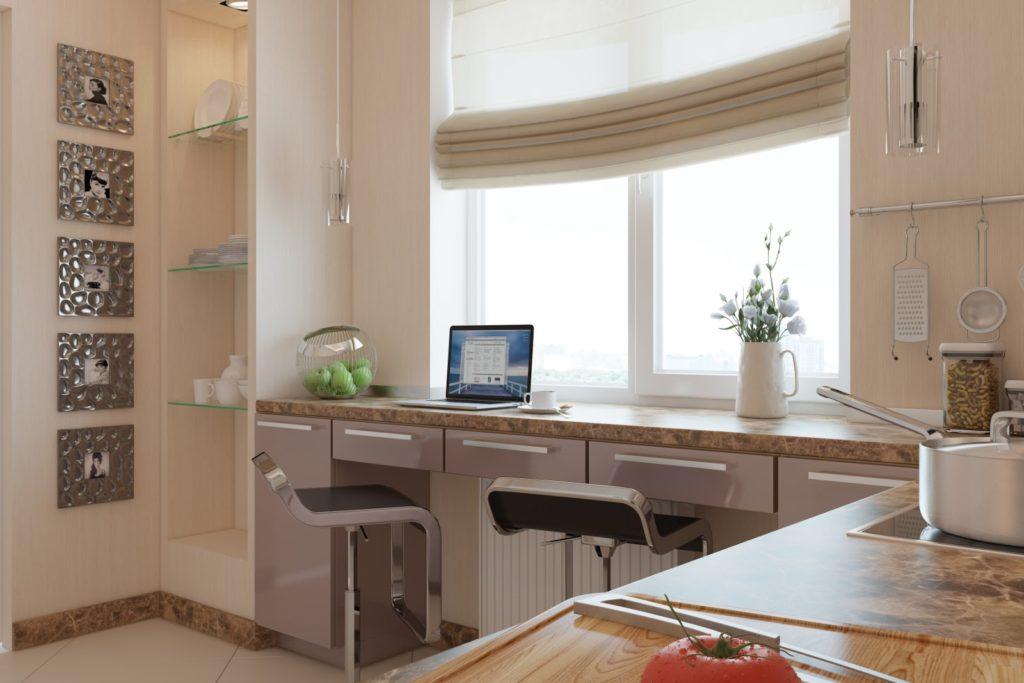 Как сделать из подоконника рабочую поверхность на кухне