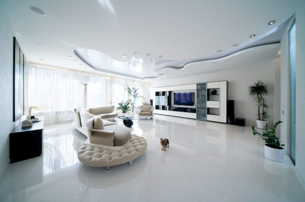 Многоуровневый натяжной потолок как основа интерьера