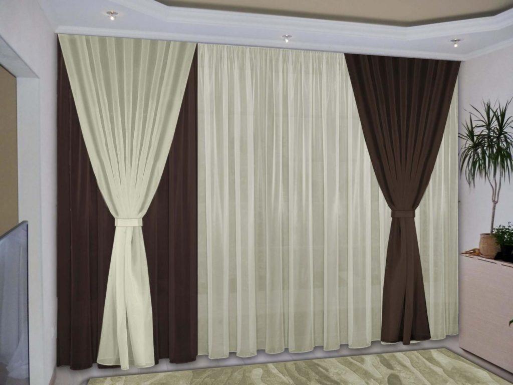 Новый тренд - двухцветные шторы из вуали