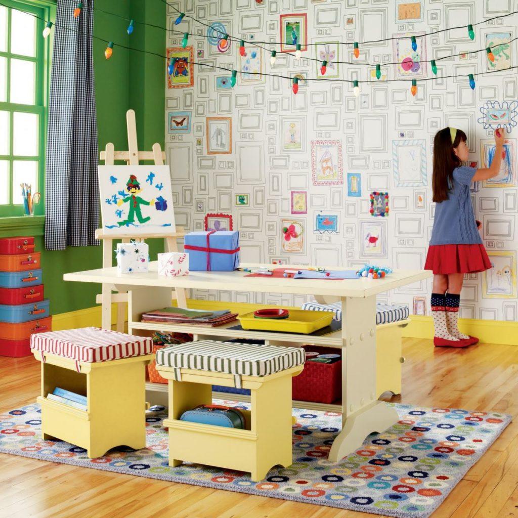 5 идей подбора красивых обоев в детскую комнату