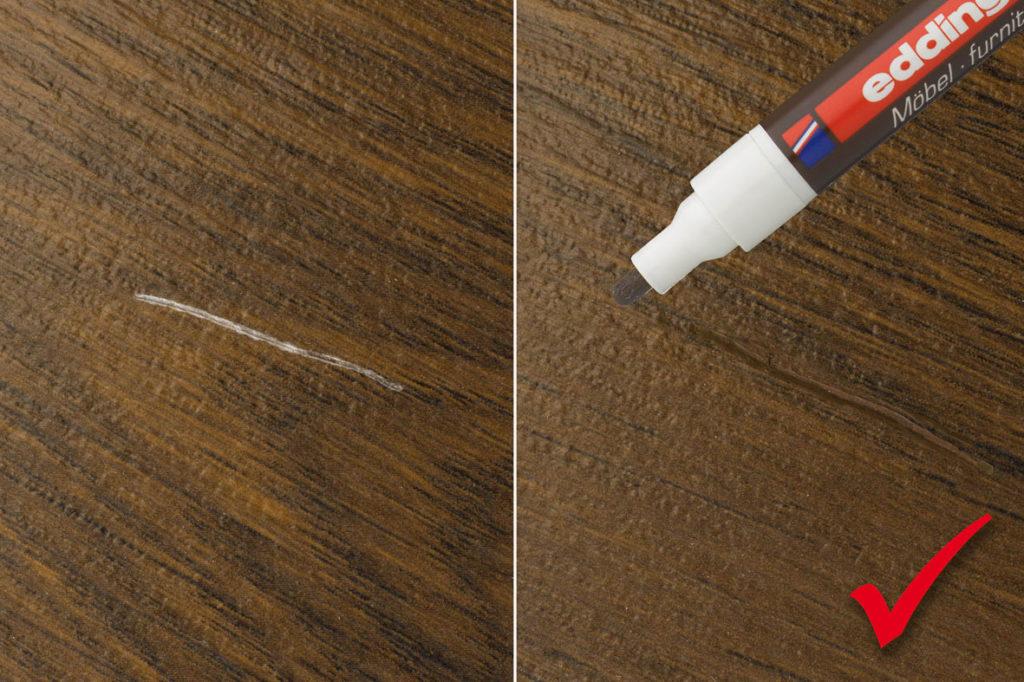 Как замаскировать царапины на мебели