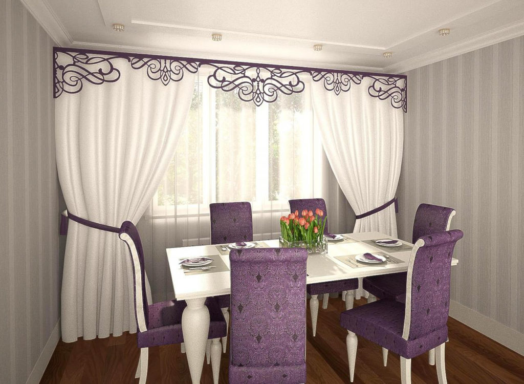 Ажурные ламбрекены для штор в гостиной и спальне