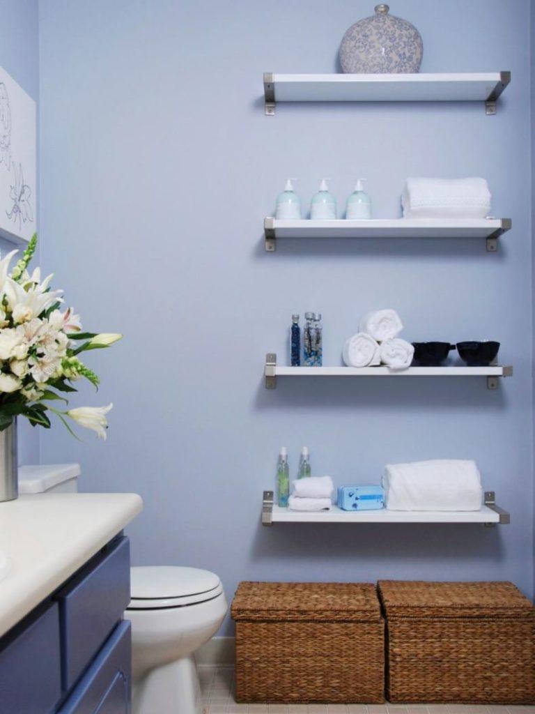 Как сделать полки для ванной комнаты своими руками