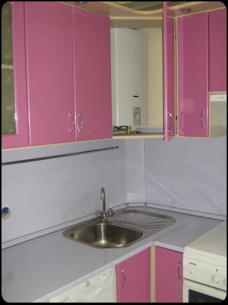 Как скрыть газовую колонку на кухне в хрущевке
