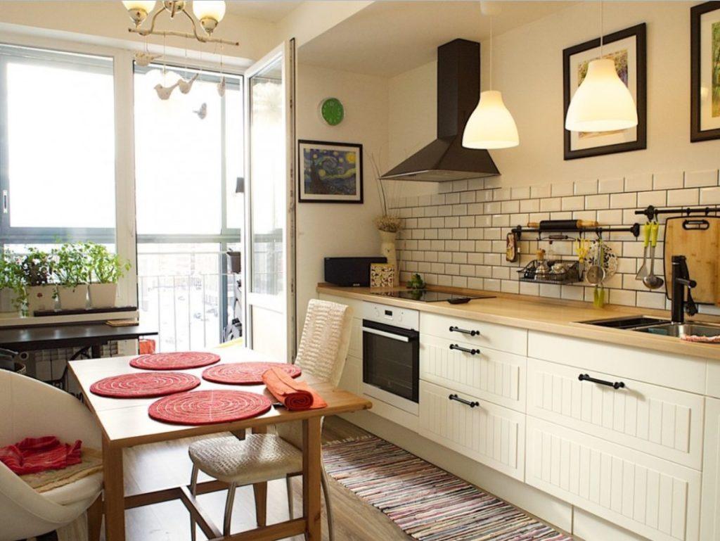 Кухня без навесных шкафов: доступная простота