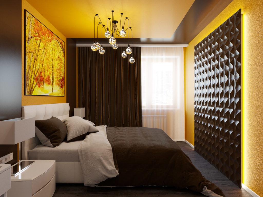 Стеновые 3Д панели для интерьера спальни