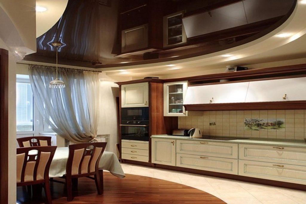 Выбираем натяжной потолок на кухню - что нужно учесть
