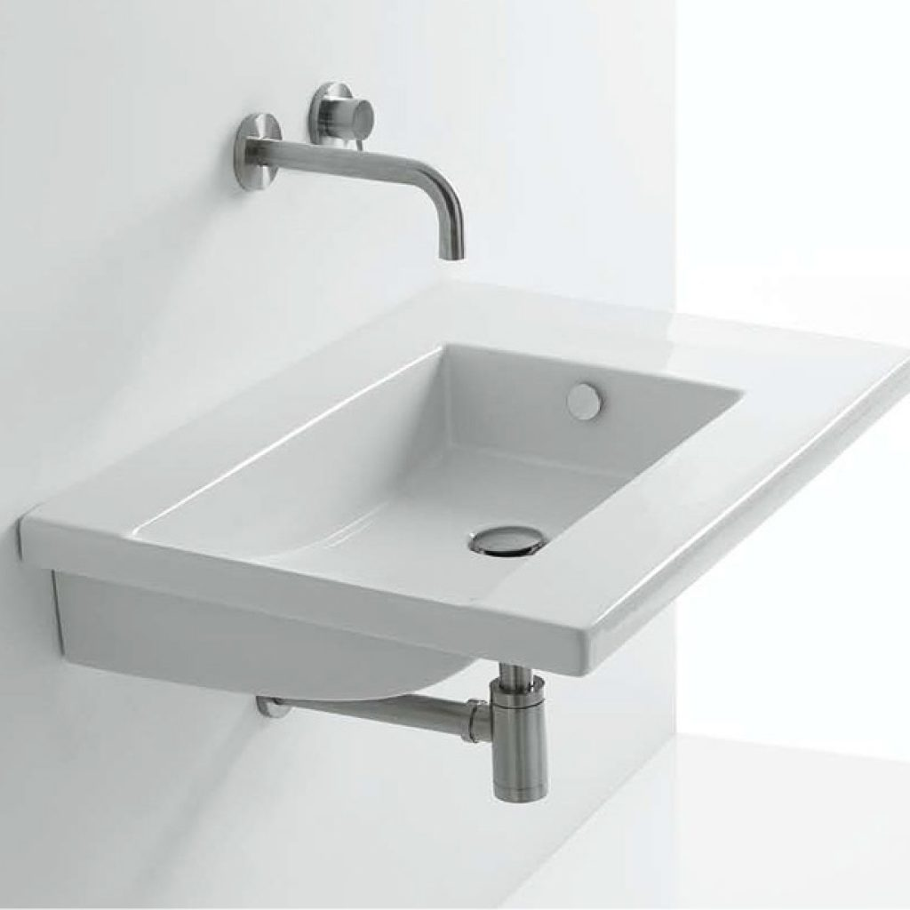 На какой высоте установить раковину в ванной