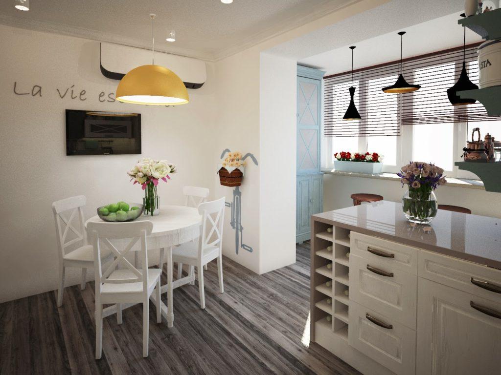 5 идей для балкона, совмещенного с кухней