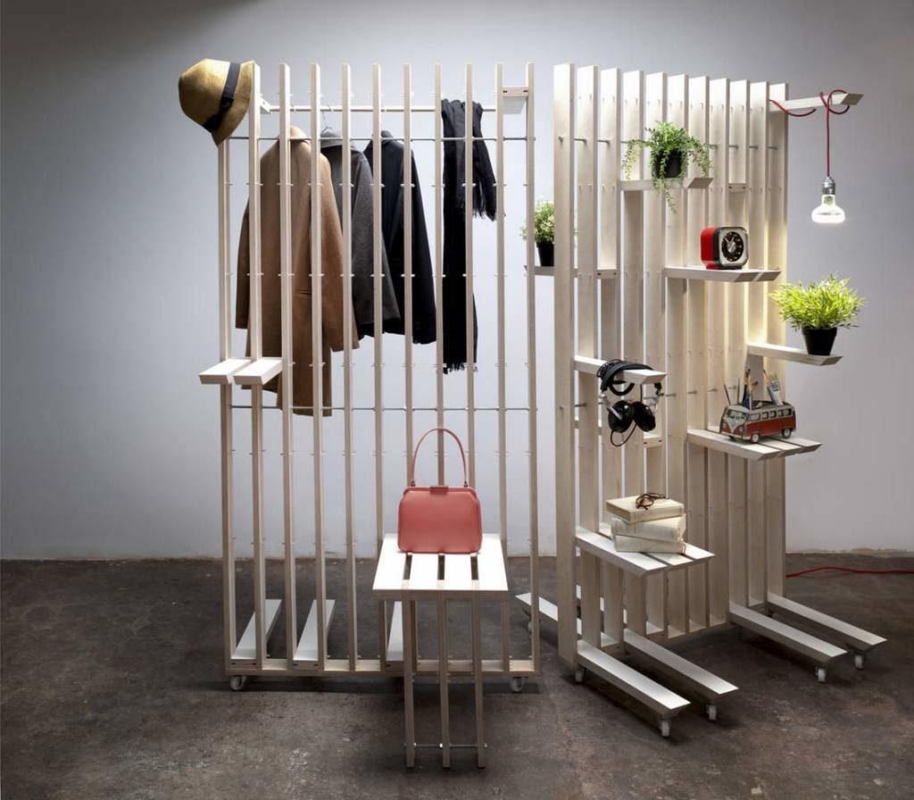 Декоративные перегородки в комнате-студии