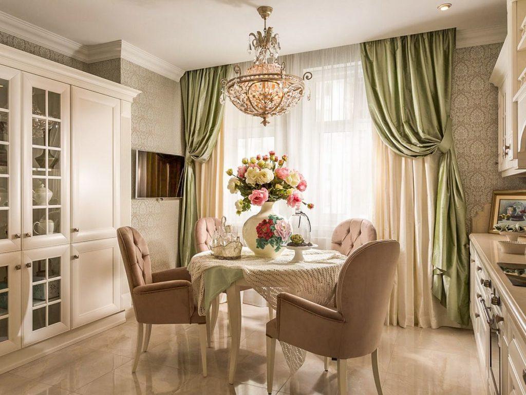 Как выбрать удобные и практичные шторы на кухню