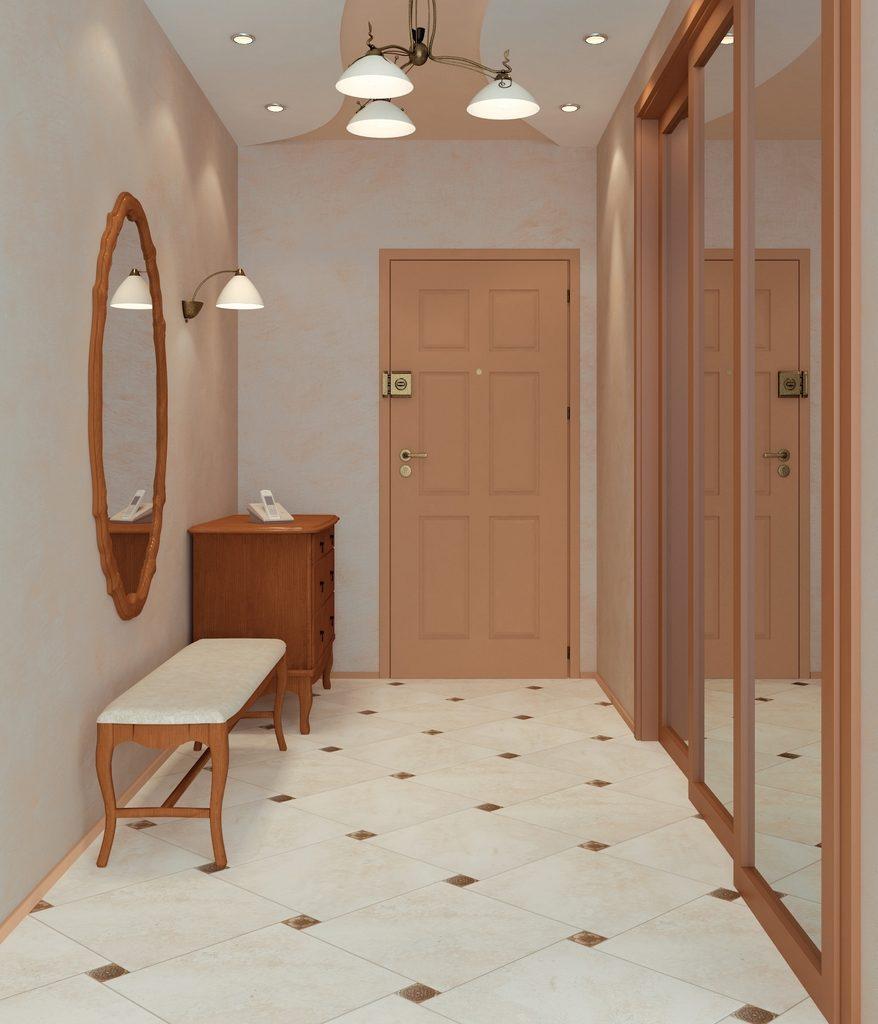 Плитка на пол в коридоре и прихожей
