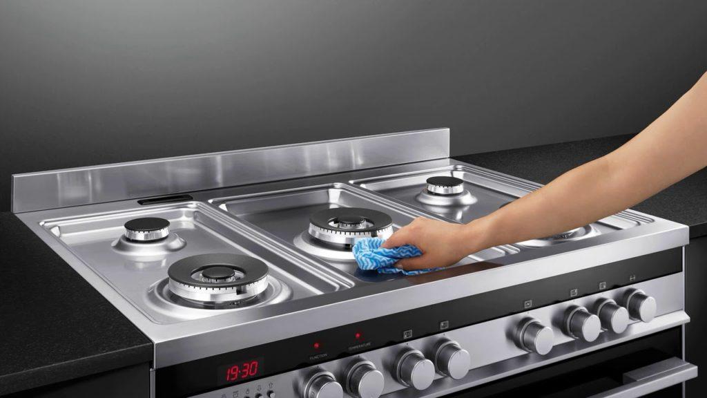 Как быстро отмыть жир с ручек плиты
