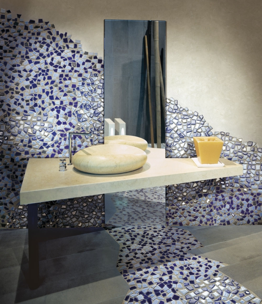 Мозаика для отделки ванной комнаты